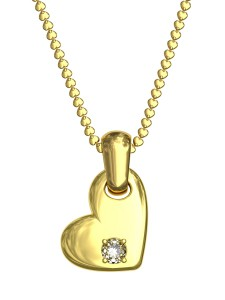 1564957-gold-pendant-in-shape-of-heart-with-diamond-on-chain